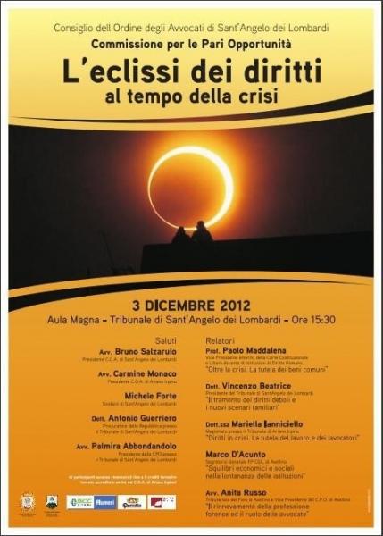 «L'Eclissi dei diritti al tempo della crisi». Oggi il convegno sulle pari opportunità